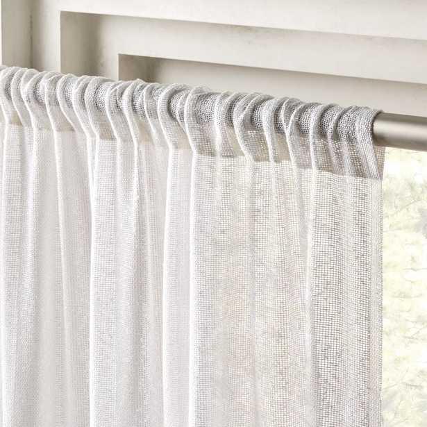 "White Net Curtain Panel 48""x108"" - CB2"