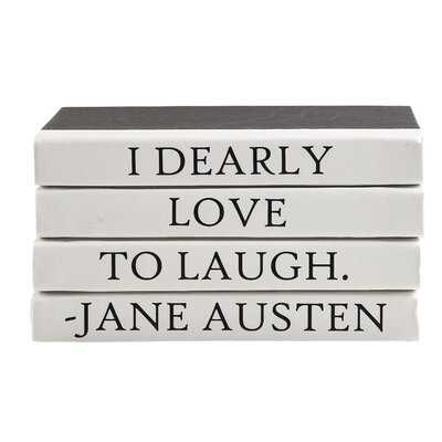 Dearly Quote Stack 4 Piece Decorative Book Set - Wayfair
