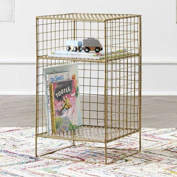 Kids On the Grid Gold 2-Cube Nightstand - Crate and Barrel