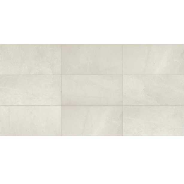 Daltile North Lake Ultra White Matte 12 in. x 24 in. Glazed Porcelain Floor and Wall Tile (15.6 sq. ft. / case) - Home Depot