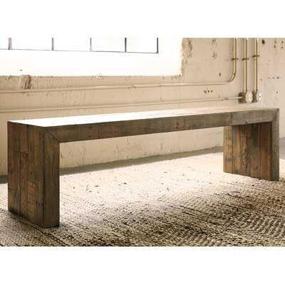Gino Solid Wood Bench - AllModern