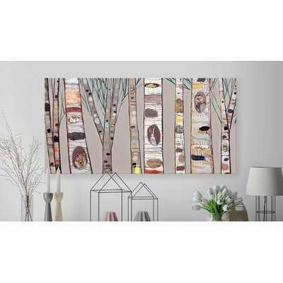 'Birch Trees' Painting Print on Canvas in Brown - Wayfair