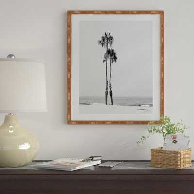 'Two Palms' Framed Photographic Print on Wood - AllModern