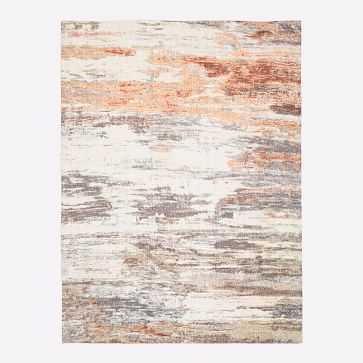 Abstract Sea Rug, Platinum/Copper, 8'x10' - West Elm