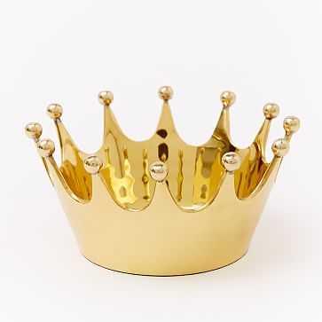 Crown Catchall, Antique Brass - West Elm