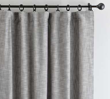 """Seaton Textured Drape, 50 x 84"""", Gray - Pottery Barn"""