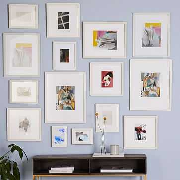 Gallery Frames, White, Set of 15 - West Elm