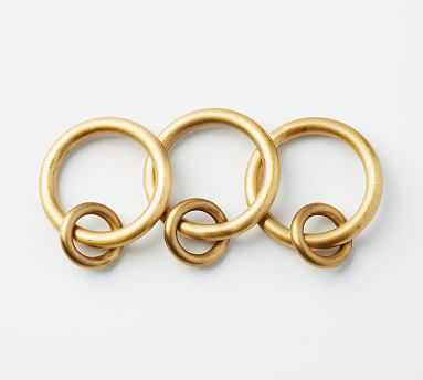 PB Standard Round Rings, Set of 10, Small, Brass Finish - Pottery Barn