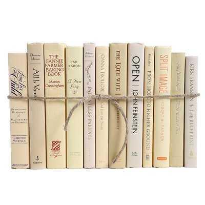 Authentic Decorative Books - By Color Modern Buttercream ColorPak (1 Linear Foot, 10-12 Books) - Wayfair