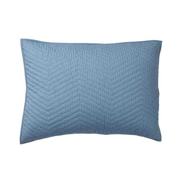 Company Lake (Blue) Cotton Standard Sham - Home Depot