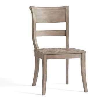 Bradford Side Chair, Grey Wash - Pottery Barn