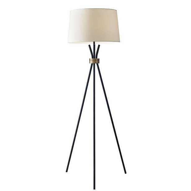 Adesso Benson 60 in. Black Floor Lamp - Home Depot