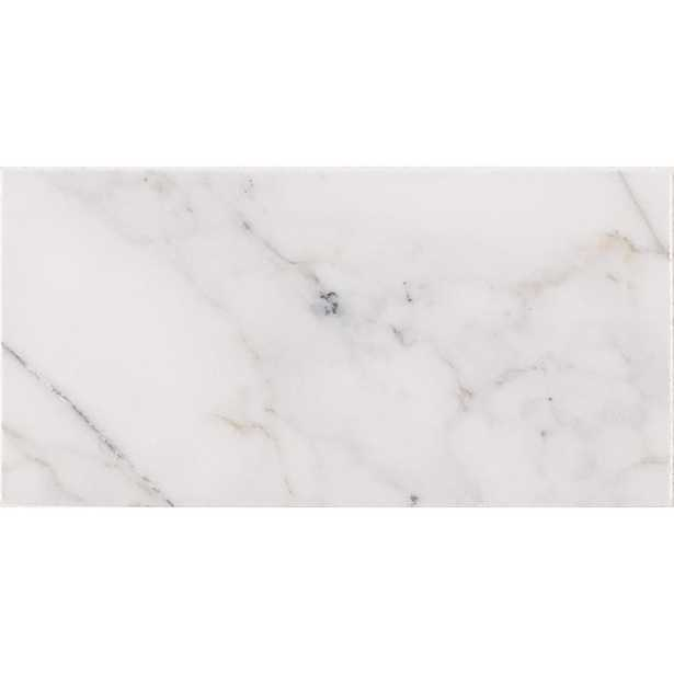 MSI Calacatta Cressa 3 in. x 6 in. Honed Marble Floor and Wall Tile (1 sq. ft. / case), White - Home Depot
