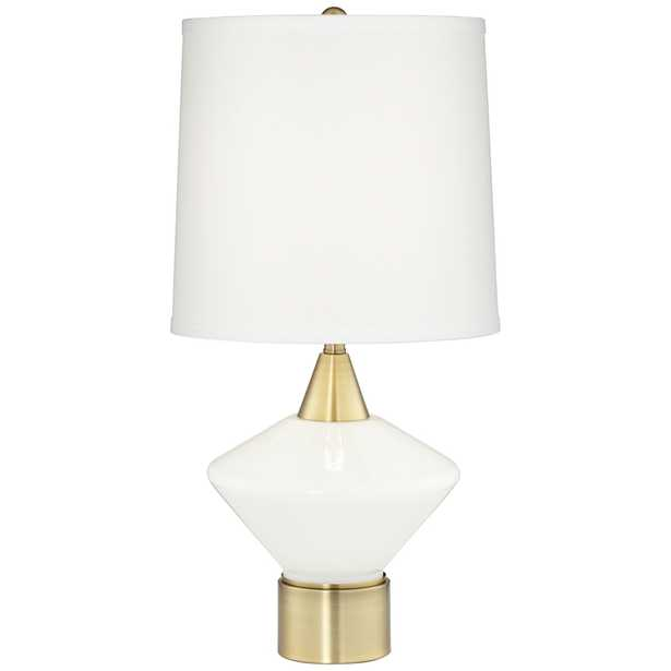 Calvin Antique Brushed Brass Modern Table Lamp - Style # 18Y45 - Lamps Plus