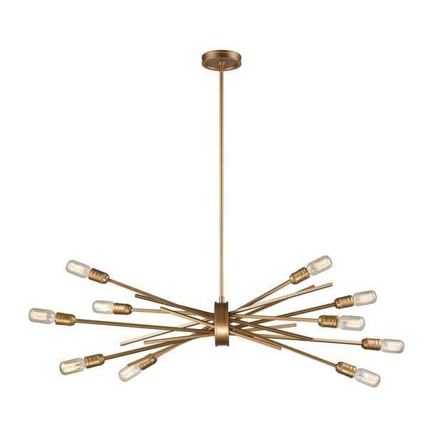 Titan Lighting Xenia 10-Light Matte Gold Chandelier - Home Depot