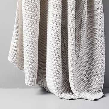 """Cotton Knit Throw, Frost Gray, 50""""x60"""" - West Elm"""