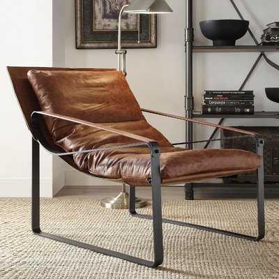 Kassy Top Grain Leather Lounge Chair - Wayfair