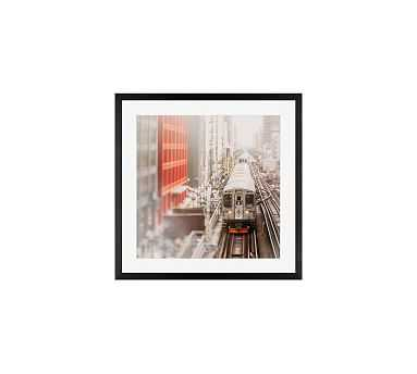 """Around the Loop Framed Print By Tracey Capone, 18x18"""", Wood Gallery Frame, Black, Mat - Pottery Barn"""
