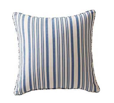 "Antique Stripe Print Pillow Cover, 20"", Blue - Pottery Barn"