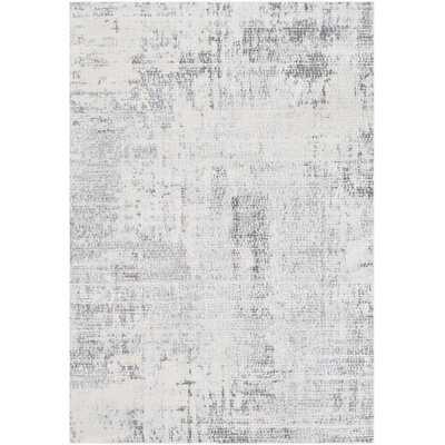 Heger Abstract Gray Area Rug - Wayfair