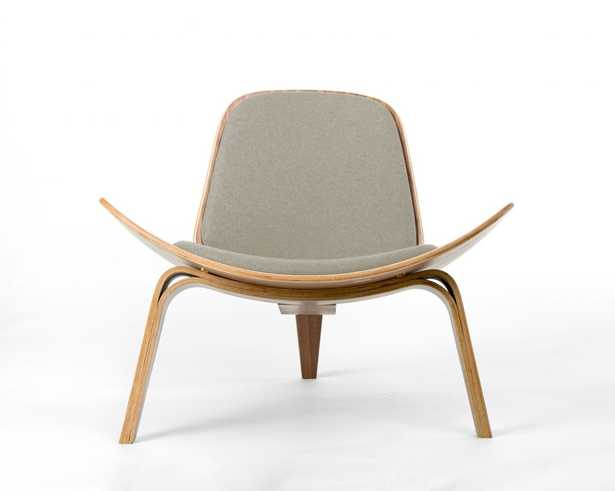 Shell Chair - Ebony Beach Beige - Rove Concepts