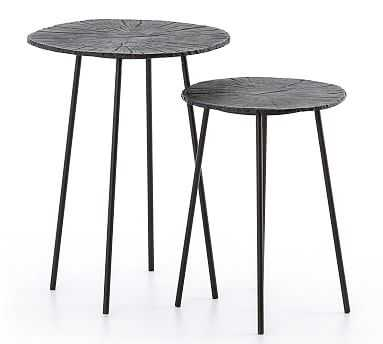 Conner Nesting End Tables, Burnished Bronze - Pottery Barn