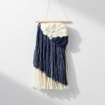Sunwoven Wall Hanging, Small, Navy - West Elm