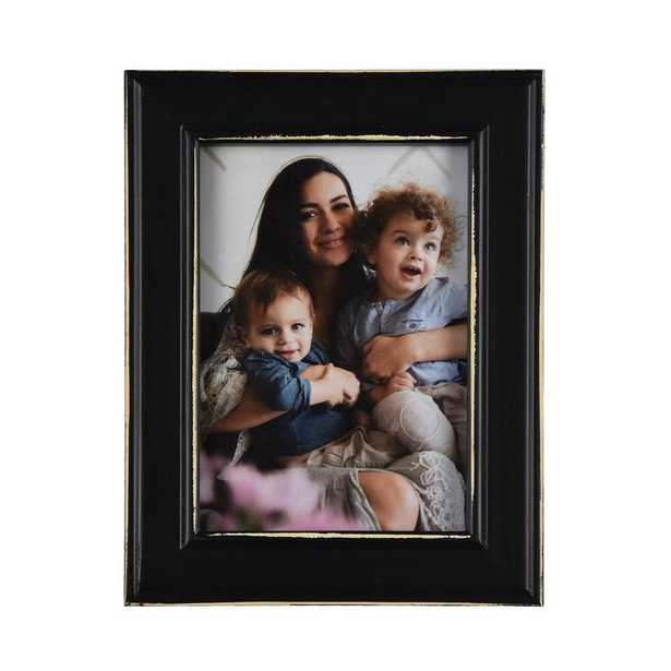 Fetco Longwood Rustic Black 5 in. x 7 in. Picture Frame (Set of 2) - Home Depot