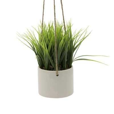 Grass Hanging Ceramic Agave Plant in Planter - Wayfair