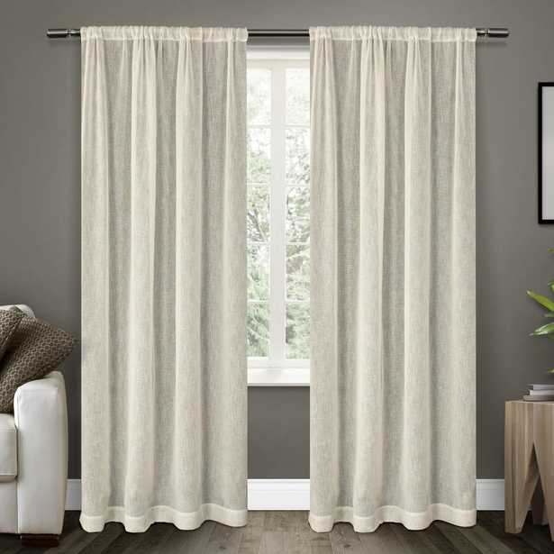 Belgian 50 in. W x 108 in. L Sheer Rod Pocket Top Curtain Panel in Snowflake (2 Panels) - Home Depot