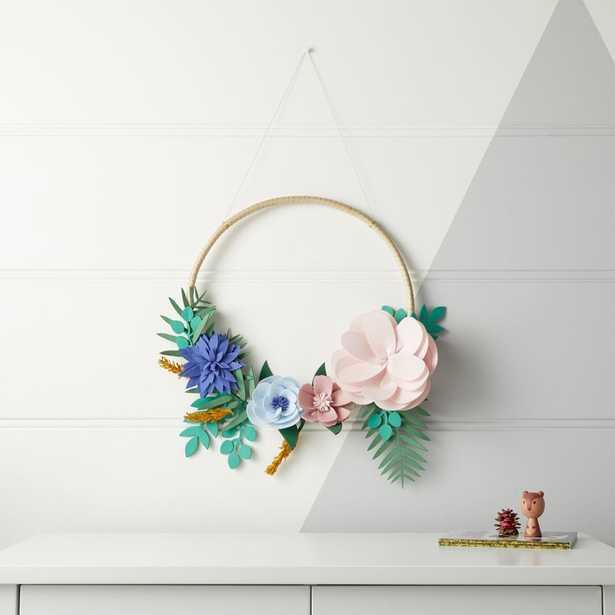 Secret Garden Greenery Wreath - Crate and Barrel