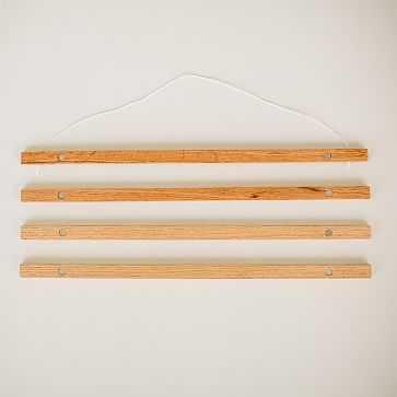 Native Maps Reclaimed Wood Hangers, Light - West Elm