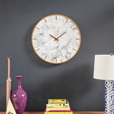 "Oversized Wendel 23.6"" Wall Clock - Wayfair"
