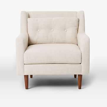 Crosby Armchair, Pebble Weave, Oatmeal - West Elm