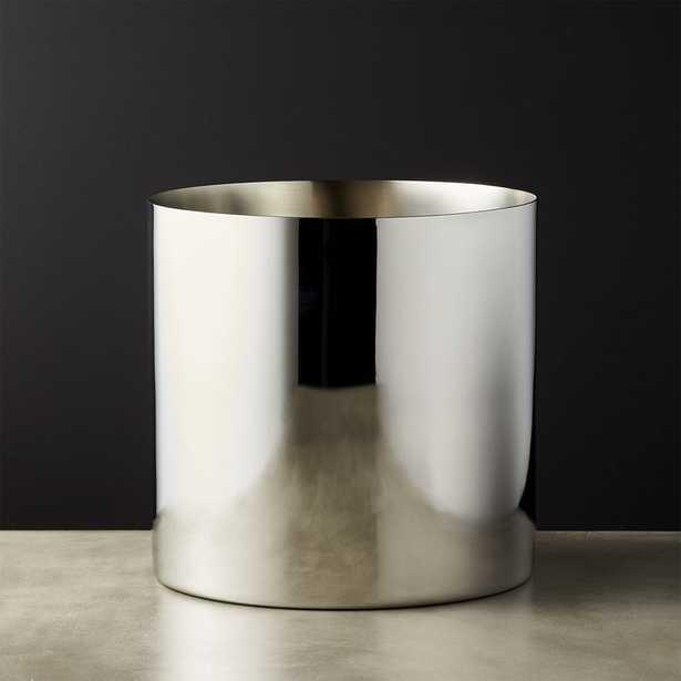 Column Stainless Steel Champagne-Wine Bucket - CB2
