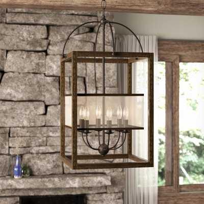 Aadhya 6-Light Lantern Rectangle / Square Chandelier - Birch Lane