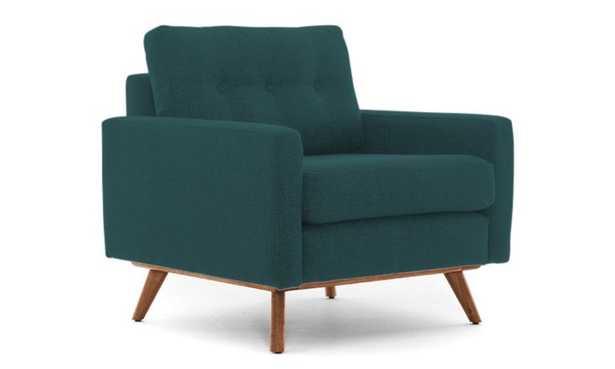 Blue Hopson Mid Century Modern Apartment Chair - Cody Pacific - Medium - Joybird