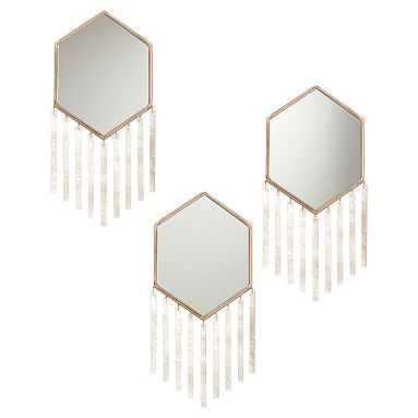 Capiz Strip Mirrors, Set of 3 - Pottery Barn Teen
