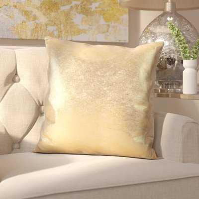 Alejandre Shimmering Metallic Foil Throw Pillow - AllModern