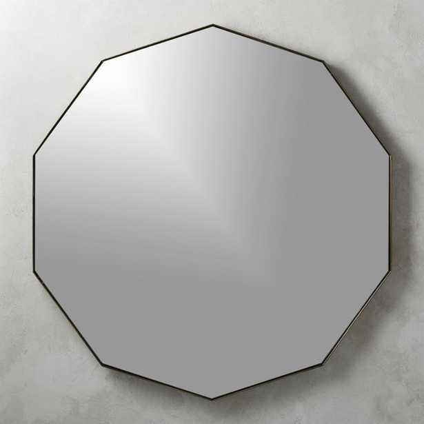 Geo Brass Geometric Wall Mirror - CB2