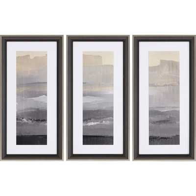 'In the Distance' 3 Piece Framed Painting Print Set - Wayfair