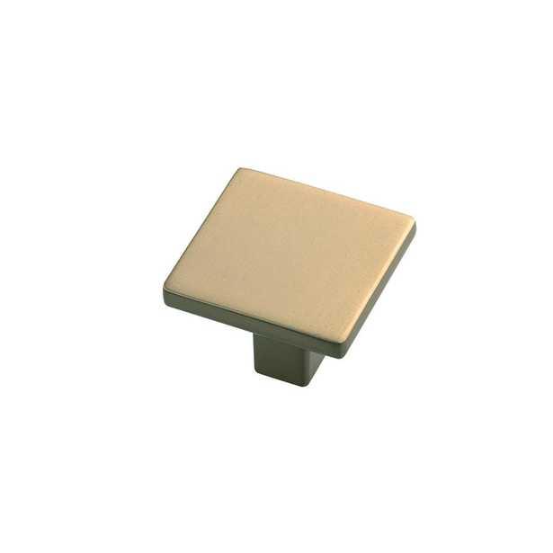 1-1/4 in. SQ Skylight Elusive Golden Nickel Cabinet Knob - Home Depot