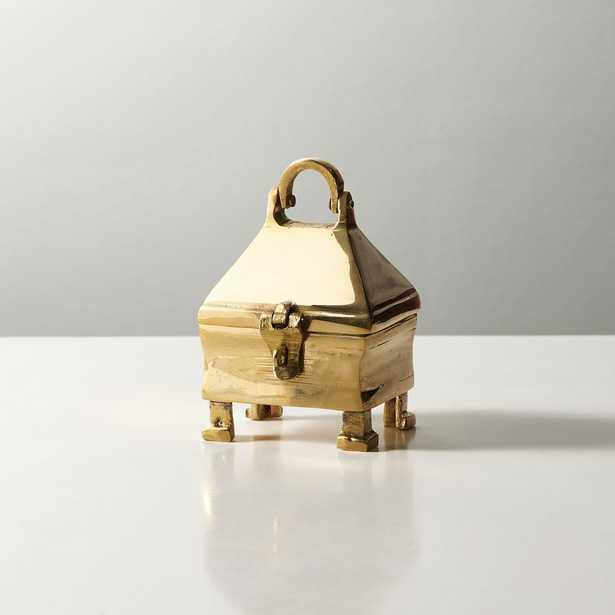 Palma Small Brass Latch Box - CB2