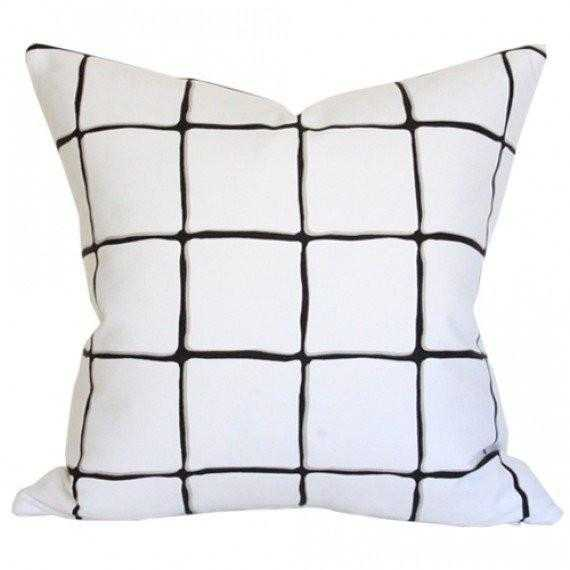 Painted Check Ink - 18x18 pillow cover / pattern on both sides - Arianna Belle