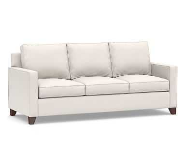 """Cameron Square Arm Upholstered Sofa 86"""", Polyester Wrapped Cushions, Sunbrella(R) Performance Chenille Salt - Pottery Barn"""