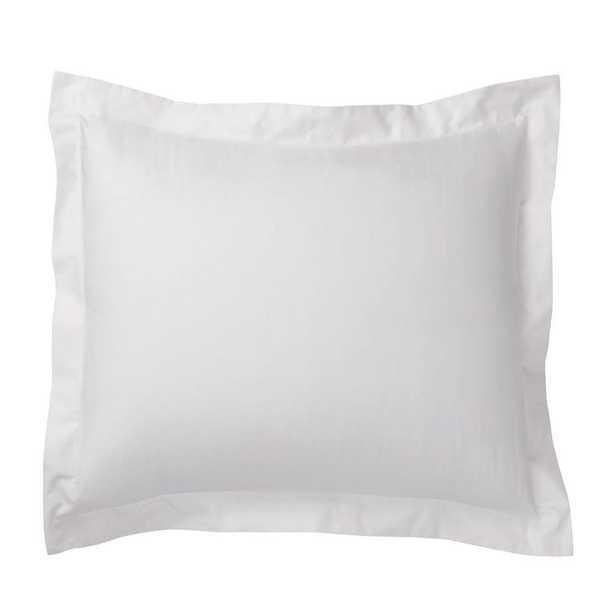 Organic Cotton Sateen White Solid Euro Sham - Home Depot