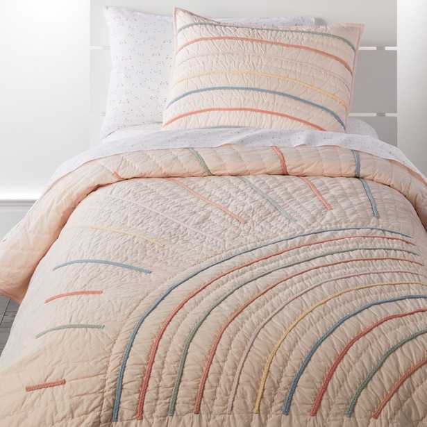 Sun Full/Queen Pink Quilt - Crate and Barrel