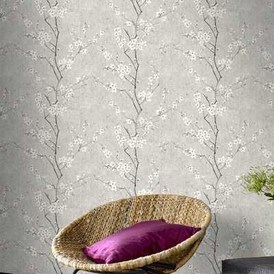 "Sakura 33' x 20.5"" Wallpaper Roll - Birch Lane"