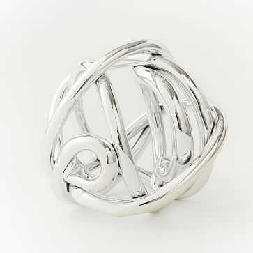 Metallic Glass Knot, Silver, Extra Large - West Elm