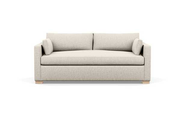 Charly Sofa with Beige Wheat Fabric and Natural Oak legs - Interior Define